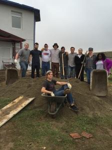 140 wheelbarrows of gravel!