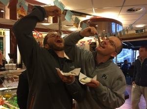 Casey & Chris eating raw herring