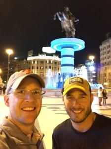 Casey & Chris in Skopje, Macedonia