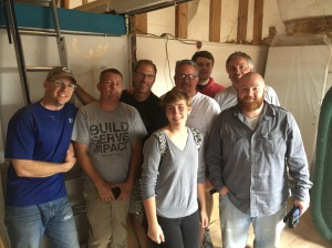 Some of the construction team